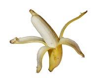 Isolato maturo della banana Immagini Stock Libere da Diritti