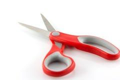 isolato rosso di forbici Fotografia Stock