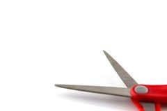 isolato rosso di forbici Fotografie Stock