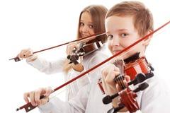 Duetto del violino Immagini Stock Libere da Diritti