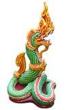 Isolato tailandese della statua del Naga Fotografia Stock