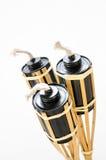 Isolato. torches la lampada fatta delle latte per combustibile. Fotografie Stock