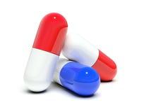 Isolato tre pillole illustrazione di stock