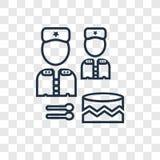 Isolator för symbol för militär vektor för valsmusikinstrumentbegrepp linjär stock illustrationer