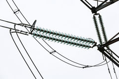 Isolator and wires Stock Photos