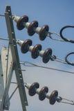 Isolatorer för hög spänning royaltyfria foton