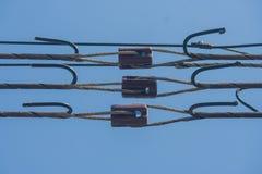 Isolatorer för hög spänning royaltyfri fotografi