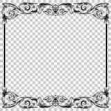 Isolatverzierung in der barocken Art Lizenzfreies Stockfoto