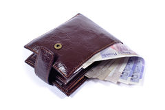 isolayed бумажник стоковое фото rf
