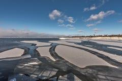 Isole del ghiaccio create dal lago Michigan Immagini Stock Libere da Diritti