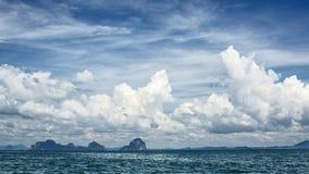 Isole del mare di Andaman Fotografia Stock