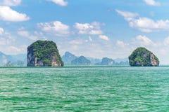 Isole del parco nazionale di Phang Nga Fotografia Stock