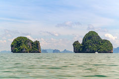 Isole del parco nazionale di Phang Nga in Tailandia Immagine Stock