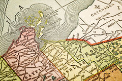 Isole dell'apostolo sulla mappa d'annata Immagini Stock Libere da Diritti