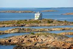 Isole di Aland, vista sul mare con Kobba Klintar Fotografie Stock