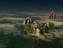 Isole di fantasia Immagine Stock