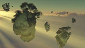 Isole di galleggiamento Fotografia Stock Libera da Diritti