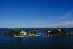 Isole di Helsinki, della Finlandia, di Valkosaari e di Luoto Immagini Stock Libere da Diritti