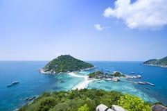 Isole di Ko Nangyuan in Tailandia Fotografie Stock Libere da Diritti