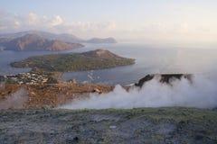 Isole di Lipari Fotografia Stock Libera da Diritti