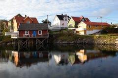 Isole di Lofoten - di Henningsvaer - la Norvegia fotografia stock libera da diritti