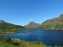 Isole di Lofoten, Norvegia Il mare di Norvegia Immagini Stock