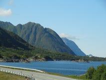 Isole di Lofoten, Norvegia Il mare di Norvegia Immagine Stock Libera da Diritti