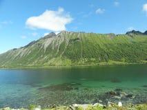Isole di Lofoten, Norvegia Il mare di Norvegia Immagine Stock
