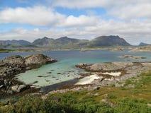 Isole di Lofoten, Norvegia Il mare di Norvegia Fotografie Stock Libere da Diritti