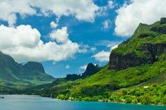 Isole di Moorea, la baia del cuoco, Polinesia francese Immagine Stock Libera da Diritti