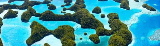Isole di Palau da sopra Fotografia Stock
