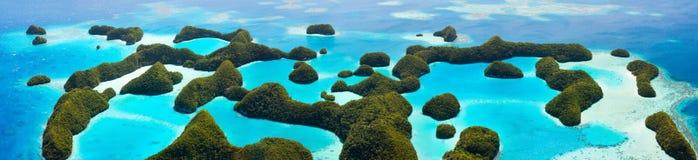Isole di Palau da sopra Immagini Stock