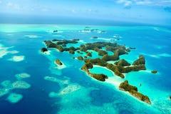 Isole di Palau da sopra Immagine Stock