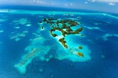 Isole di Palau da sopra Immagini Stock Libere da Diritti