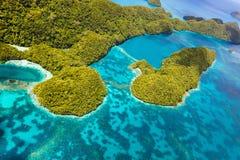 Isole di Palau da sopra Fotografie Stock Libere da Diritti
