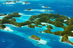Isole di Palau da sopra Fotografia Stock Libera da Diritti