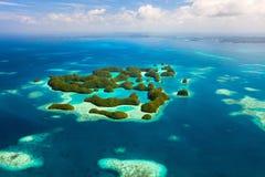 Isole di Palau da sopra Fotografie Stock