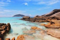 Isole di Similansky, mare di Andaman, Tailandia Immagini Stock