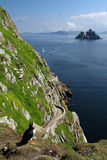 Isole di Skellig - vista dell'occhio del puffino, Irlanda Fotografia Stock