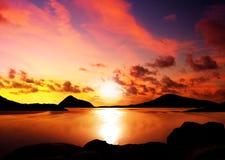 Isole di tramonto Fotografie Stock