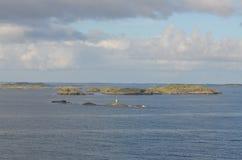 Isole nel mare Fotografie Stock Libere da Diritti