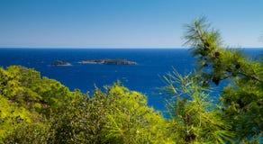 Isole nel mare Fotografia Stock