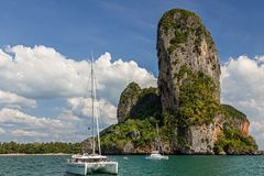 Isole nella provincia di Krabi della Tailandia immagini stock libere da diritti