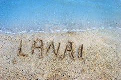 Isole nella sabbia Lanai Fotografie Stock Libere da Diritti