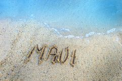 Isole nella sabbia Maui Fotografie Stock Libere da Diritti