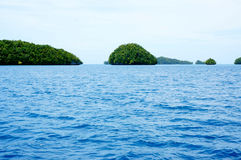 Isole sul mare, Palau Fotografie Stock