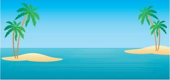 Isole tropicali con le palme illustrazione di stock