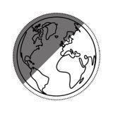Isoleer aardewereld stock illustratie