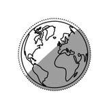 Isoleer bolwereld royalty-vrije illustratie