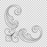 Isoleer hoekornament vector illustratie